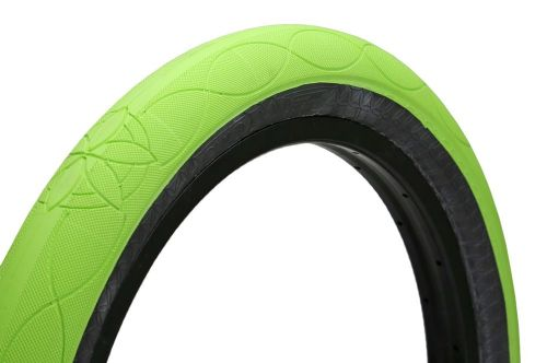 Cult AK Tyre - Fluorescent Green With Black Sidewall 2.50""